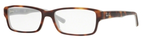 Ray Ban Glasses RX5169 Top Havana On Opal Blue