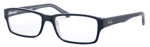 Ray Ban Glasses RX5169 Transparent Grey on Top Blue