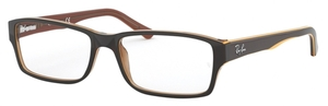 Ray Ban Glasses RX5169 Transparent Light Brown on Top Yellow