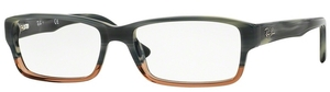 Ray Ban Glasses RX5169 Blue Horn Grad Trasp Brown