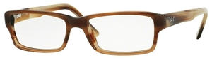 Ray Ban Glasses RX5169 Brown Horn Grad Trasp Beige