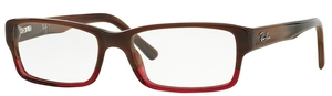 Ray Ban Glasses RX5169 Brown Horn Grad Trasp Bordeaux