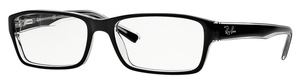 Ray Ban Glasses RX5169 Top Black on Transparent