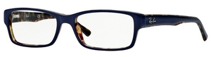 Ray Ban Glasses RX5169 Top Blue on Havana