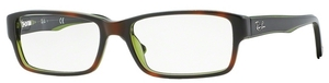 Ray Ban Glasses RX5169 Top Havana On Green Transparent