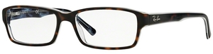 Ray Ban Glasses RX5169 Top Havana on Transparent Azure