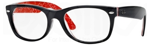 Ray Ban Glasses RX5184 New Wayfarer Top Black On Texture Red