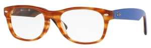 Ray Ban Glasses RX5184F Asian Fit Havana Light Brown