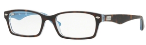 Ray Ban Glasses RX5206 TOP HAVANA ON TR AZURE