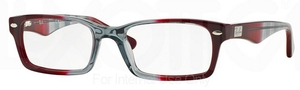 Ray Ban Glasses RX5206 Gradient Grey on Bordeaux