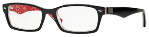 Ray Ban Glasses RX5206 Top Black On Texture Red