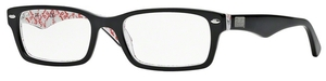 Ray Ban Glasses RX5206 TOP BLACK ON TEXTURE WHITE