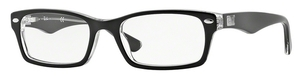 Ray Ban Glasses RX5206 Top BLACK on Transparent