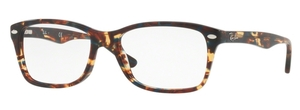 Ray Ban Glasses RX5228 Spotted Blue/Brown/Yellow