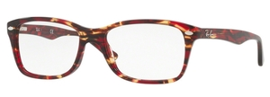 Ray Ban Glasses RX5228 Spotted Red/Brown Yellow
