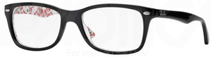 Ray Ban Glasses RX5228 Top Black on Texture White