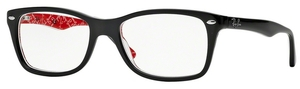 Ray Ban Glasses RX5228 Top Black On Texture Red