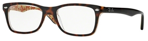 Ray Ban Glasses RX5228 TOP DARK HAVANA ON BEIGE TEXT