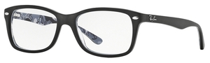 Ray Ban Glasses RX5228 Top Mat Black on Texture Camuflage