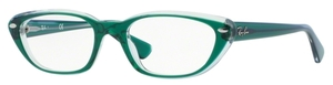 Ray Ban Glasses RX5242 Top Dark Green on Transparent