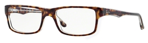 Ray Ban Glasses RX5245 Top Havana on Transparent