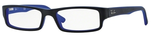 Ray Ban Glasses RX5246 Top Black on Matte Blue