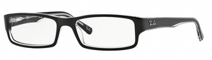 Ray Ban Glasses RX5246 Top BLACK on Transparent