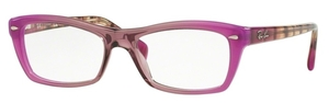 Ray Ban Glasses RX5255 Gradient Antique Pink on Pink