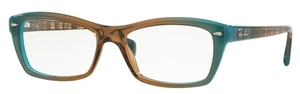 Ray Ban Glasses RX5255 Gradient Brown On Azure