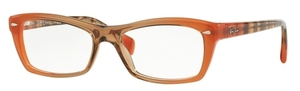 Ray Ban Glasses RX5255 Gradient Brown On Orange