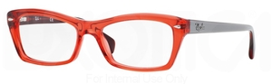 Ray Ban Glasses RX5255 Shiny Trasparent Red