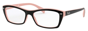 Ray Ban Glasses RX5255 Top Black On Pink