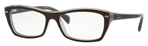 Ray Ban Glasses RX5255 TOP BROWN ON OPAL AZURE