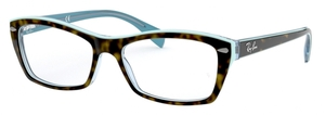 Ray Ban Glasses RX5255 Top Havana on Havana Blue