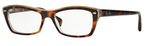 Ray Ban Glasses RX5255 Top Havana On Transparent Beige