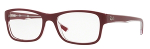 Ray Ban Glasses RX5268 Top Bordeaux on Transparent 5738