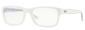 Ray Ban Glasses RX5268 Top White on Transparent 5737