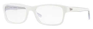 Ray Ban Glasses RX5268 Top White on Transparent