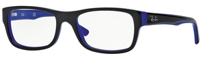 Ray Ban Glasses RX5268 Top Black on Blue