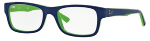 Ray Ban Glasses RX5268 Top Blue on Green