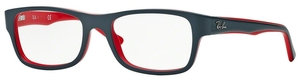 Ray Ban Glasses RX5268 Top Grey on Red