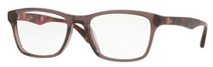 Ray Ban Glasses RX5279F Asian Fit Shiny Opal Brown