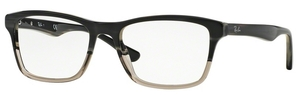 Ray Ban Glasses RX5279 Grey Horn Grad Trasp Grey