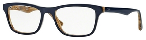 Ray Ban Glasses RX5279 TOP BLUE ON VARIEGATED BEIGE