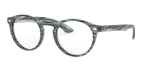 Ray Ban Glasses RX5283 Striped Blue Grey