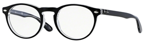 Ray Ban Glasses RX5283 Top Black on Transparent