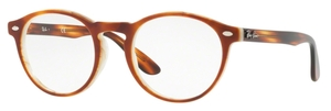 Ray Ban Glasses RX5283 Top Havana Brown Horn Beige