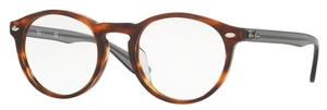 Ray Ban Glasses RX5283F Asian Fit Striped Havana