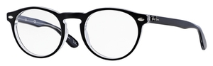 Ray Ban Glasses RX5283F Asian Fit Top Black on Transparent