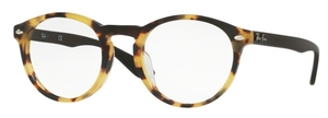 Ray Ban Glasses RX5283F Asian Fit Yellow Havana